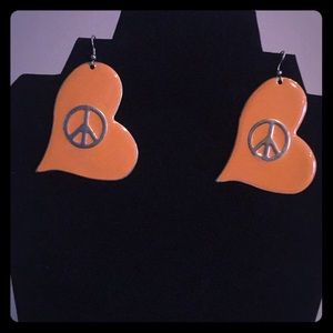 Retro metal earrings